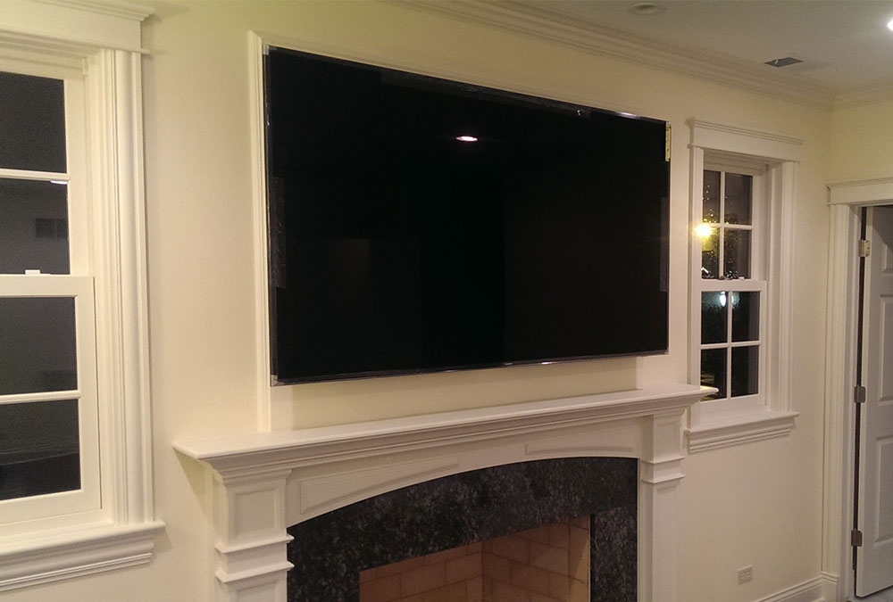 4K LED Tv Mounting Above Fireplace