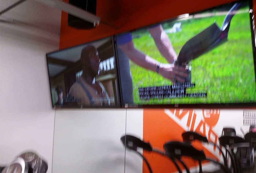 Commercial TV Mounting in Gym
